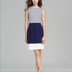 Kate spade blue & white stripe sheath dress
